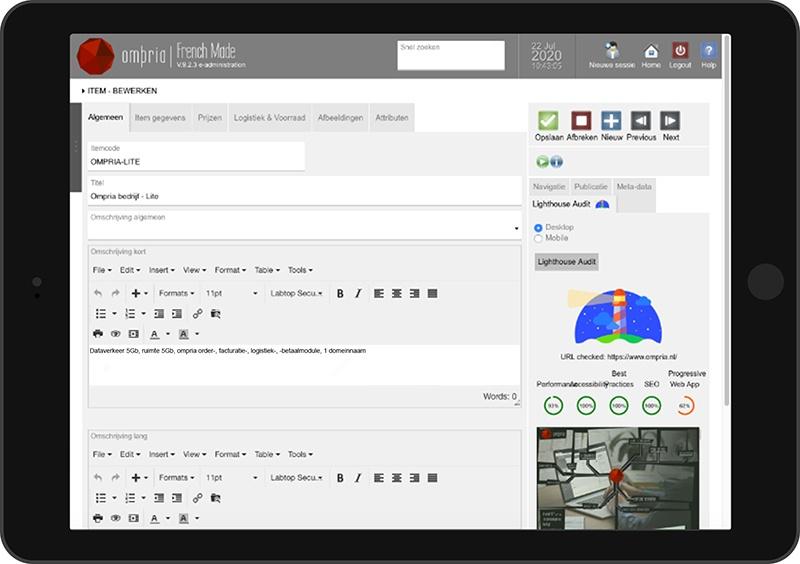 Ompria beheert uw website, webwinkel of app